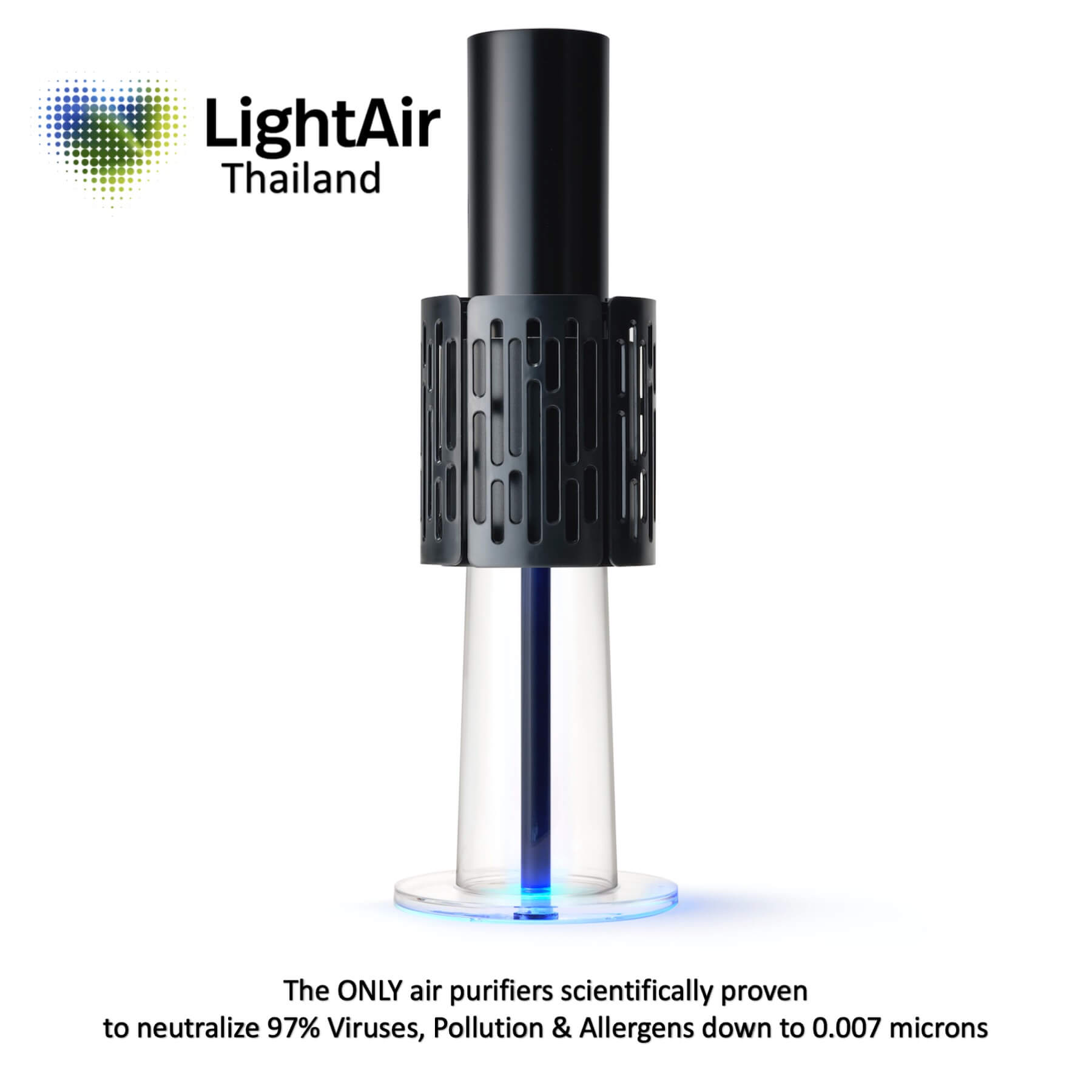 LightAir IonFlow Evolution The Best Air Purifiers for Pollution & Viruses – Black
